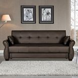 Serta® Lucia Dream Faux-Leather Convertible Sofa Bed
