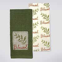 Celebrate Fall Together Blessed Patch Kitchen Towel 2-pk.