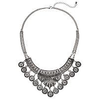 Mudd® Antiqued Medallion Statement Necklace