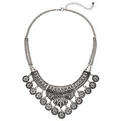 Mudd® Antiqued Medallion Statement Necklace
