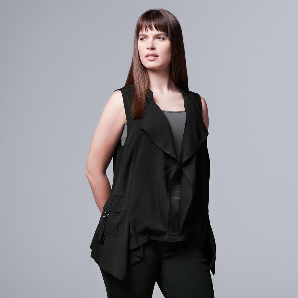 Plus Size Simply Vera Vera Wang Utility Vest