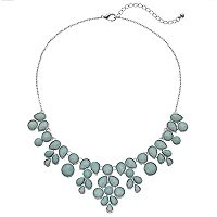 Mudd® Blue Round & Teardrop Stone Statement Necklace