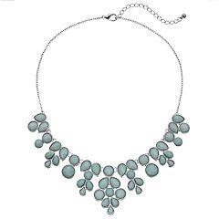 Mudd® Blue Round & Teardrop Stone Statement Necklace