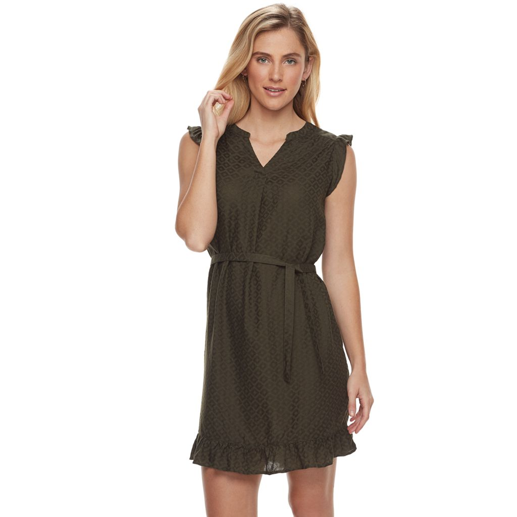 Women's SONOMA Goods for Life™ Ruffle Jacquard Fit & Flare Dress
