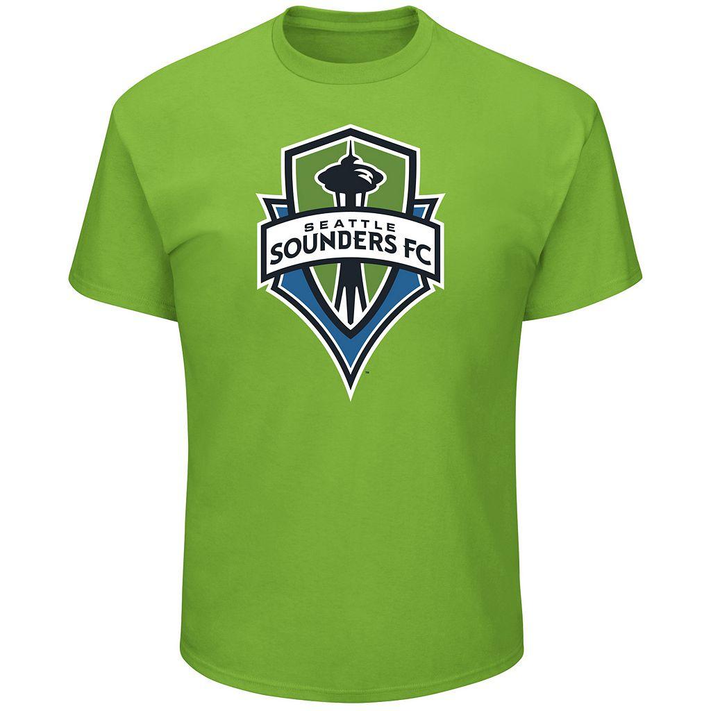 Men's Majestic Seattle Sounders Logo Tee