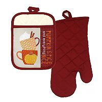 Celebrate Fall Together Pumpkin Spice Oven Mitt & Potholder Set