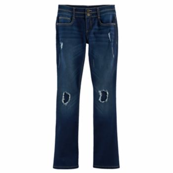 Girls 7-16 & Plus Size Mudd® Ripped Double-Button Skinny Bootcut Jeans