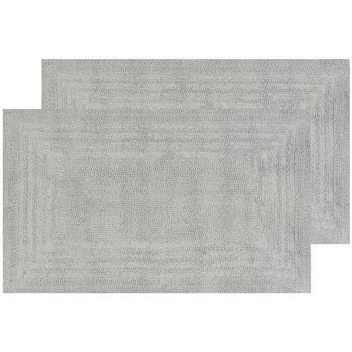 Safavieh 2-pack Plush Framed II Bath Rug Set - 21'' x 34''