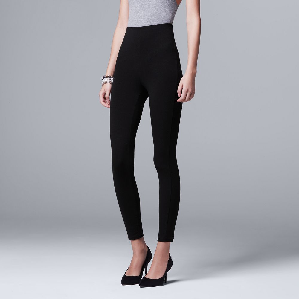 0ccfa913fbf360 Women's Simply Vera Vera Wang High-Waisted Shaping Leggings