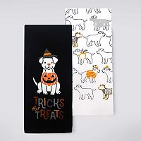 Celebrate Halloween Together Dog Kitchen Towel 2-pk.