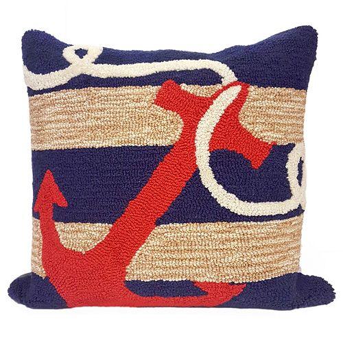 Liora Manne Anchor Throw Pillow