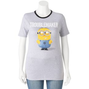 "Juniors' Despicable Me Minions ""Troublemaker"" Graphic Tee"