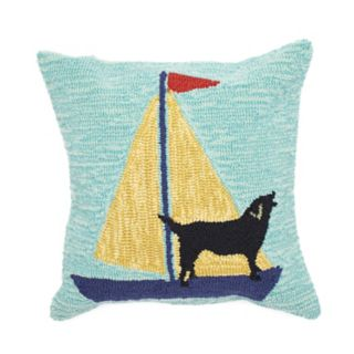 Liora Manne Sailing Dog Throw Pillow