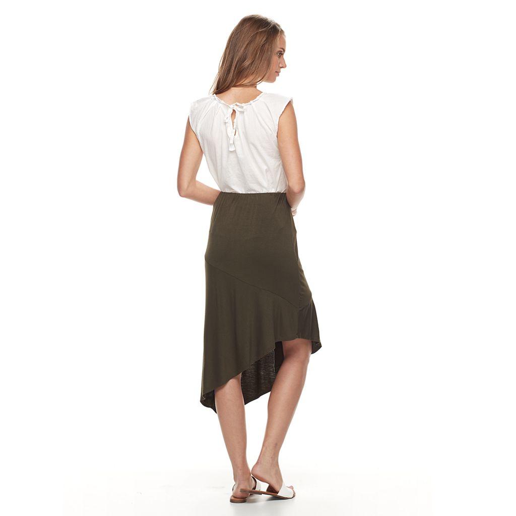 Petite Apt. 9® Asymmetrical Mix-Print Skirt