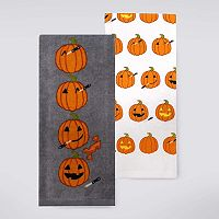 Celebrate Halloween Together Pumpkin Carving Kitchen Towel 2-pk.