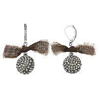 Simply Vera Vera Wang Fabric Bow Fireball Drop Earrings
