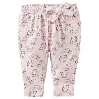 Baby Girl OshKosh B'gosh® Kitty Pattern Side-Tie Knit Pants