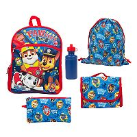 Kids Paw Patrol Chase, Marshall & Rubble 5-pc. Backpack, Lunch Box & Accessory Set