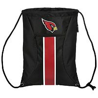 Forever Collectibles Arizona Cardinals Striped Zipper Drawstring Backpack