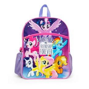 "Kids My Little Pony ""Adventure and Friendship Forever"" Twilight Sparkle, Pinkie Pie, Rainbow Dash, Rarity, Fluttershy & Applejack Backpack"