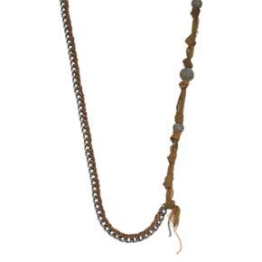 Simply Vera Vera Wang Long Woven Fireball Bead Necklace