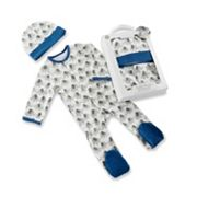 Baby Boy Baby Aspen Little Peanut Elephant Pajama & Hat Gift Set