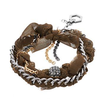 Simply Vera Vera Wang Two Tone Woven Multi Strand Bracelet