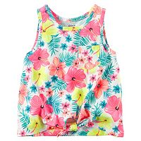 Toddler Girl Carter's Print Knot-Front Tank Top
