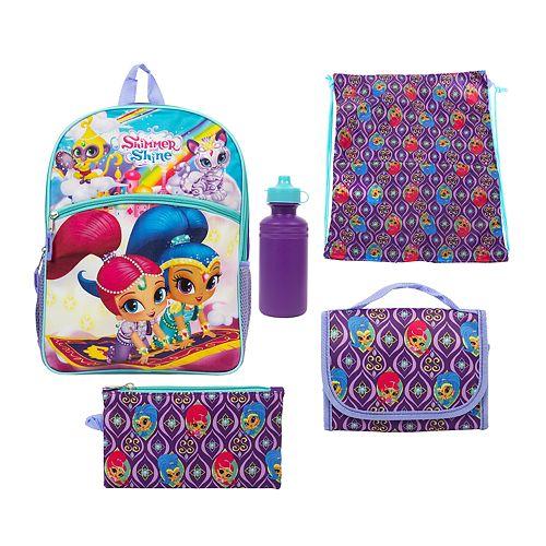 Kids Shimmer & Shine 5-pc. Backpack & Lunch Box Set