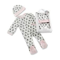 Baby Girl Baby Aspen Little Peanut Elephant Pajama & Hat Gift Set