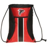Forever Collectibles Atlanta Falcons Striped Zipper Drawstring Backpack