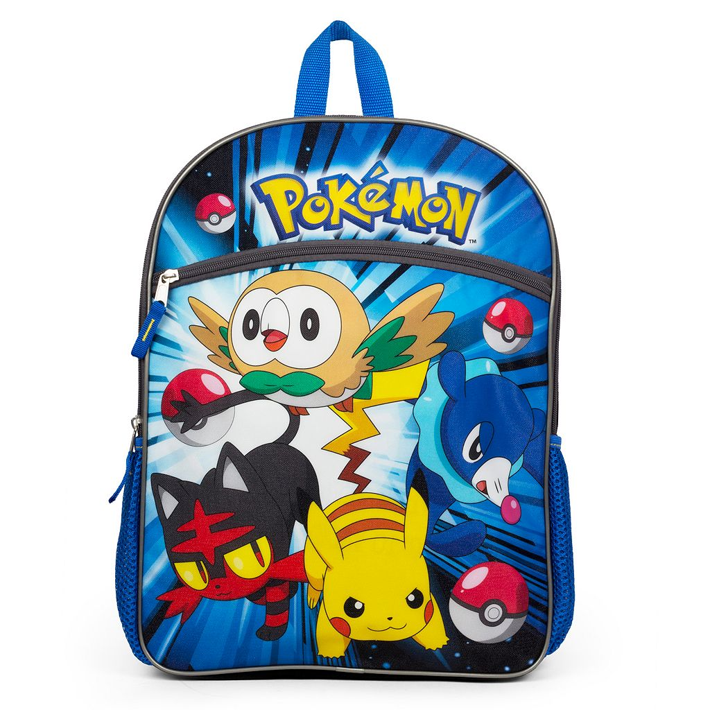 Kids Pokemon Pikachu, Rowlet, Popplio & Litten Backpack