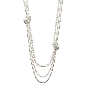 Simply Vera Vera Wang Knotted Long Simulated Pearl Necklace