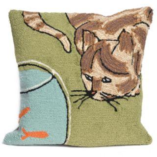 Liora Manne Curious Cat Throw Pillow