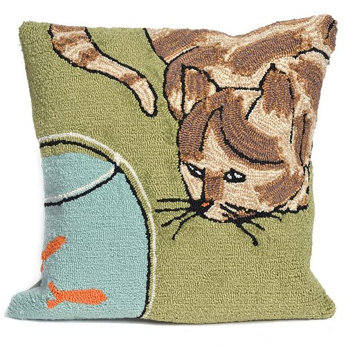 Liora Manne Curious Cat Throw Pillow