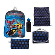 Kids Transformers Optimus Prime & Bumblebee 5 pc Backpack & Lunch Box Set