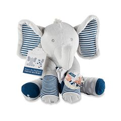 Baby Boy Baby Aspen Lilly the Elephant Plush Toy & Socks Set