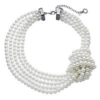 Simply Vera Vera Wang Knotted Multi Strand Simulated Pearl Necklace