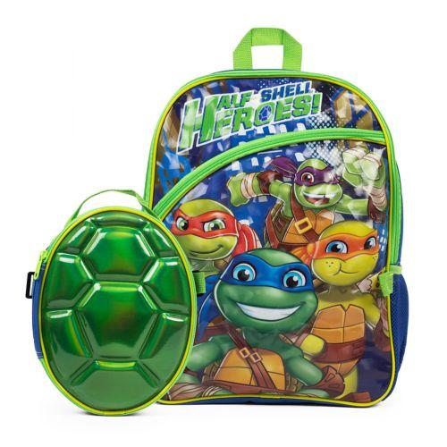 Kids Teenage Mutant Ninja Turtles Backpack Amp Shell Lunch