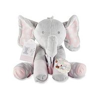 Baby Girl Baby Aspen Lilly the Elephant Plush Toy & Socks Set