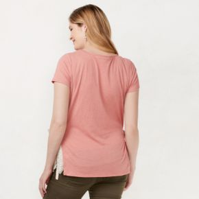 Maternity LC Lauren Conrad Lace Inset Tee
