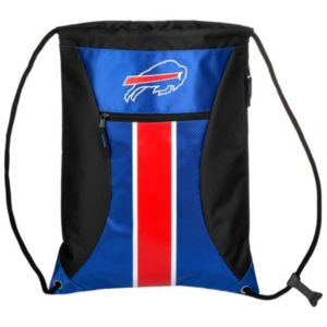 Forever Collectibles Buffalo Bills Striped Zipper Drawstring Backpack