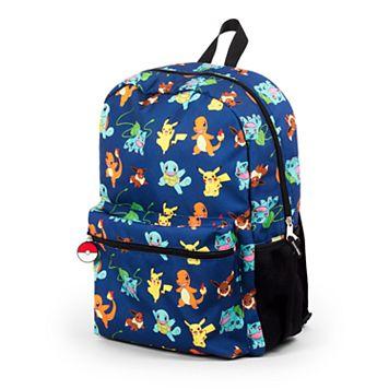 Kids Pokemon Pikachu, Charmander, Bulbasaur, Squirtle & Eevee Backpack