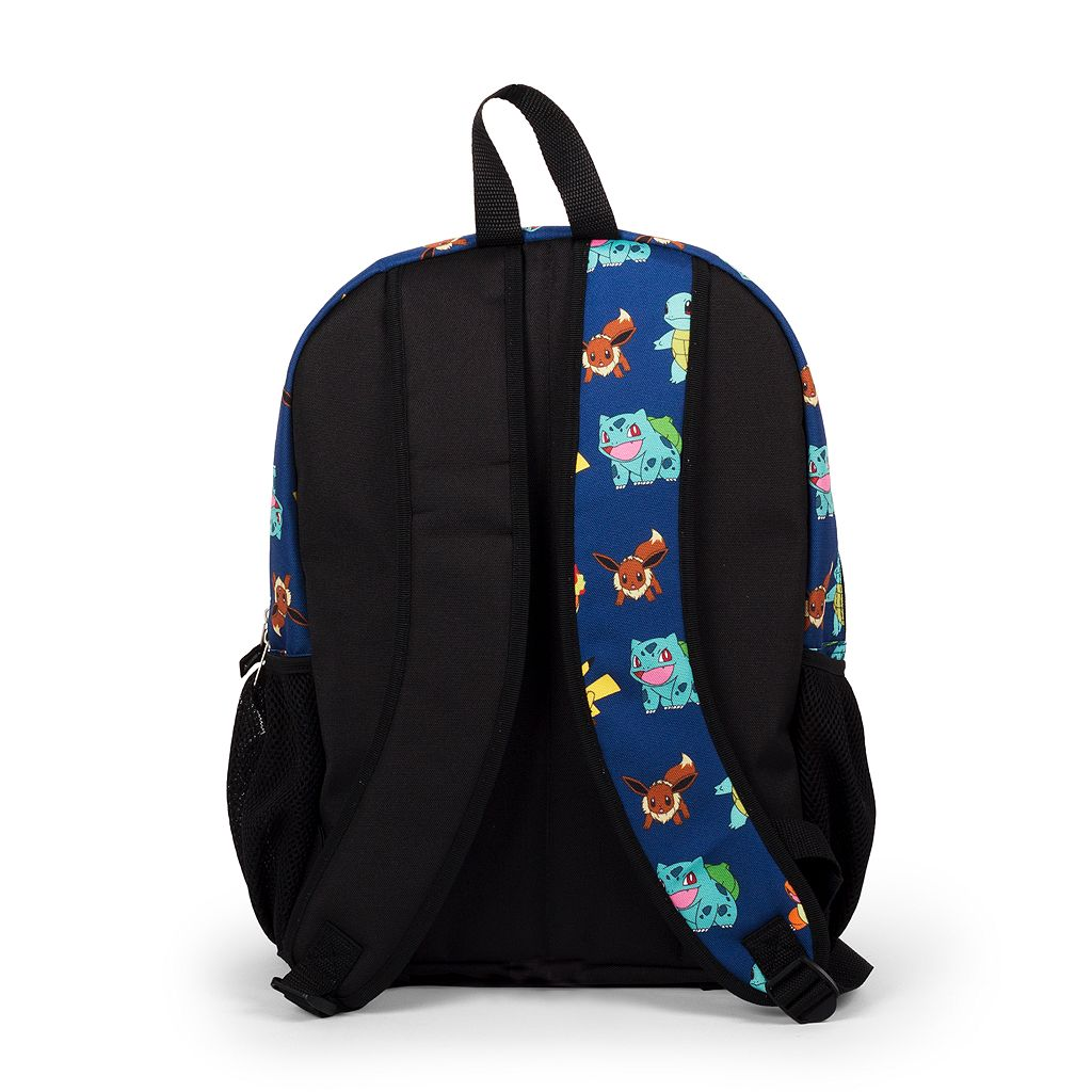 Kids Pokemon Pikachu, Charmander, Bulbasaur, Squirtle & Eevee Backpack