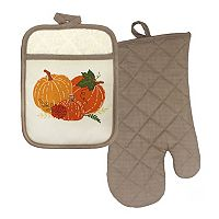 Celebrate Fall Together Pumpkin Oven Mitt & Potholder Set