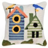 Trans Ocean Imports Liora Manne Birdhouses Indoor Outdoor Throw Pillow