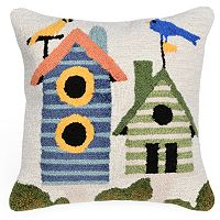 Trans Ocean Imports Liora Manne Birdhouses Indoor Outdoor Throw Pillow