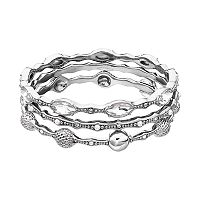 Simply Vera Vera Wang Round & Marquise Bangle Bracelet Set