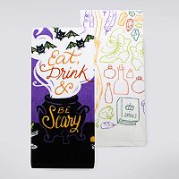 Celebrate Halloween Together Eat, Drink & Be Scary Kitchen Towel 2-pk.
