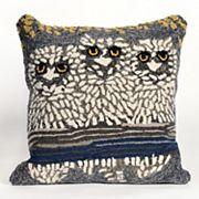Liora Manne Owls Night Throw Pillow